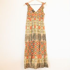 Angie Floral Patterned Maxi Dress Size Medium
